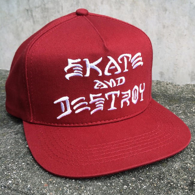 Thrasher Skate and Destroy Embroidered Snapback  42b7019f6de